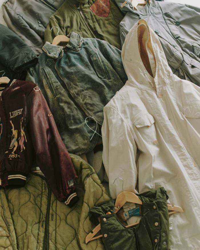 Some of Berryman's collection ofvintage clothing