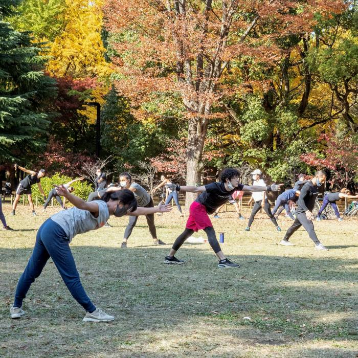 Dancers, glee clubs, synchronised skipping: groups of all kinds meet in Yoyogi...