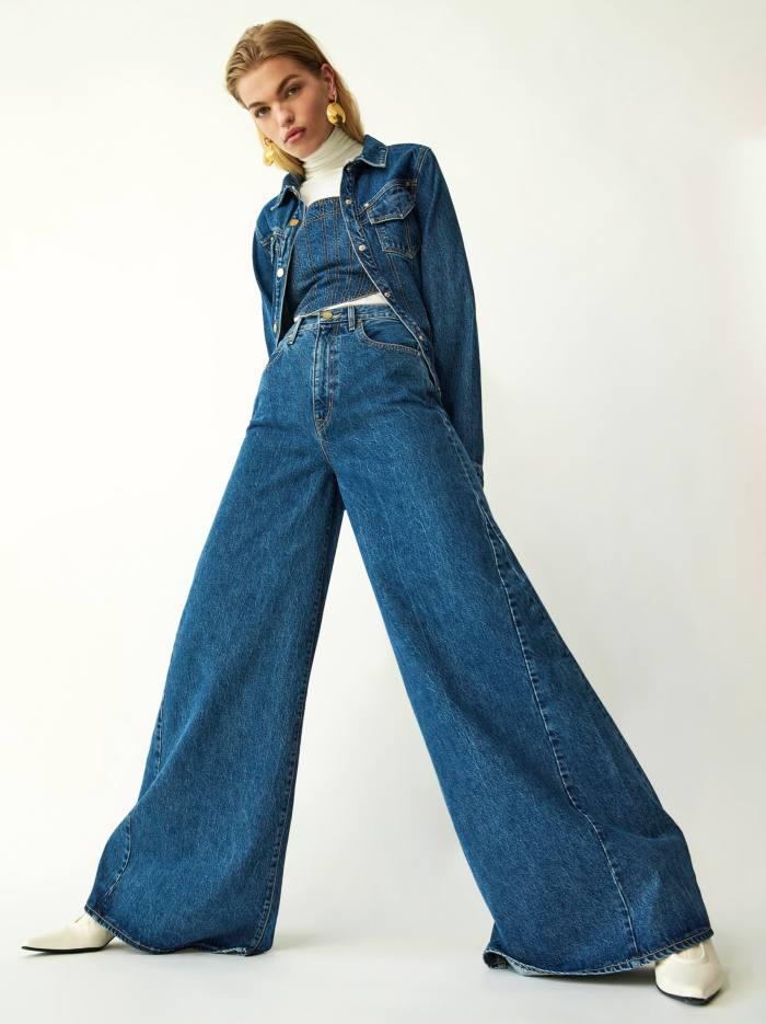 Slvrlake x Ellery Convoy jacket, £529, Bandera corset, £315, and Twin Range jeans, £465