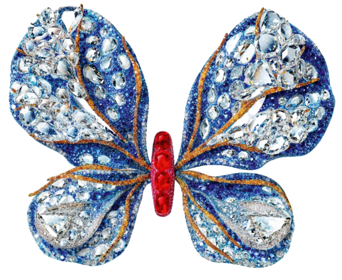 Cindy Chao ruby, diamond and sapphire 2019 Black Label Masterpiece I Aurora Butterfly Brooch, POA