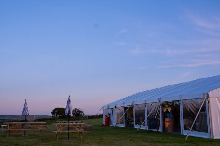 The 52-seat marquee at Trerethern Farm
