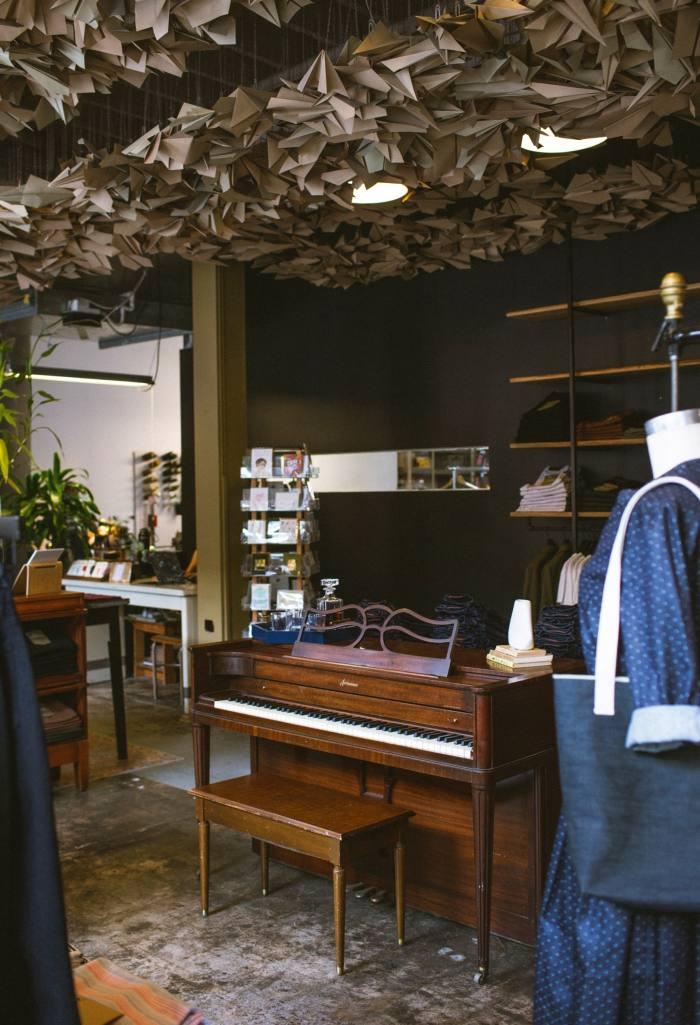 Baldwin Acrosonic piano in the shop