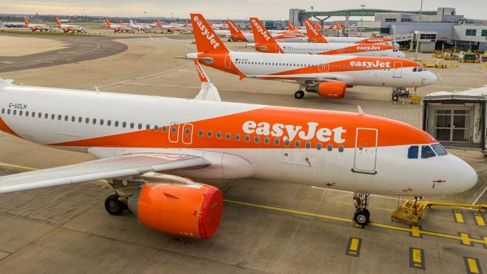 EasyJet aircraft at Gatwick airport