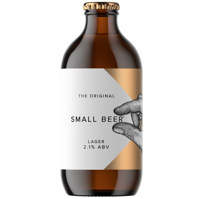 Small Beer Brew Co lager, £15 for six 350ml bottles