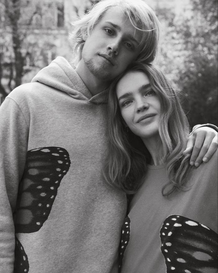 Natalia Vodianova at home in Paris with her son Lucas