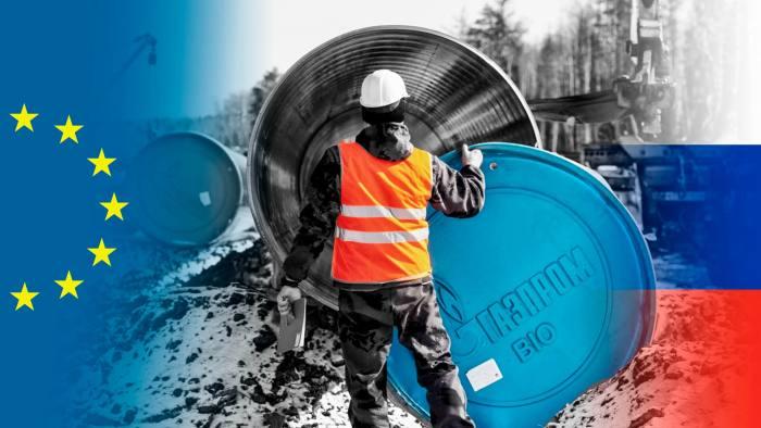 A Nord Stream 2 construction sitenear Leningrad