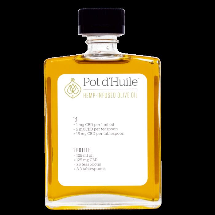 Pot d'Huile hemp-infused olive oil, $36 for125ml