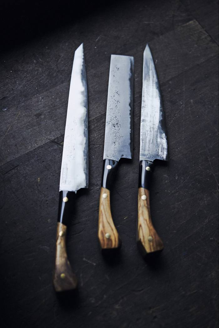 Gorse Knives The Ravensdon kitchen-knife collection, £730, from gorseknives.com