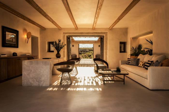 The reception reflects the organic design of the suites