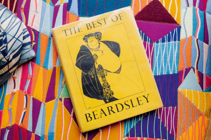 """One of Wood's current reads: a vintage copy of """"The Best of Beardsley"""""""