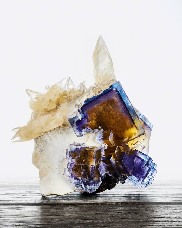 Illinois calcite and fluorite on barite, $61,000, from Wilensky