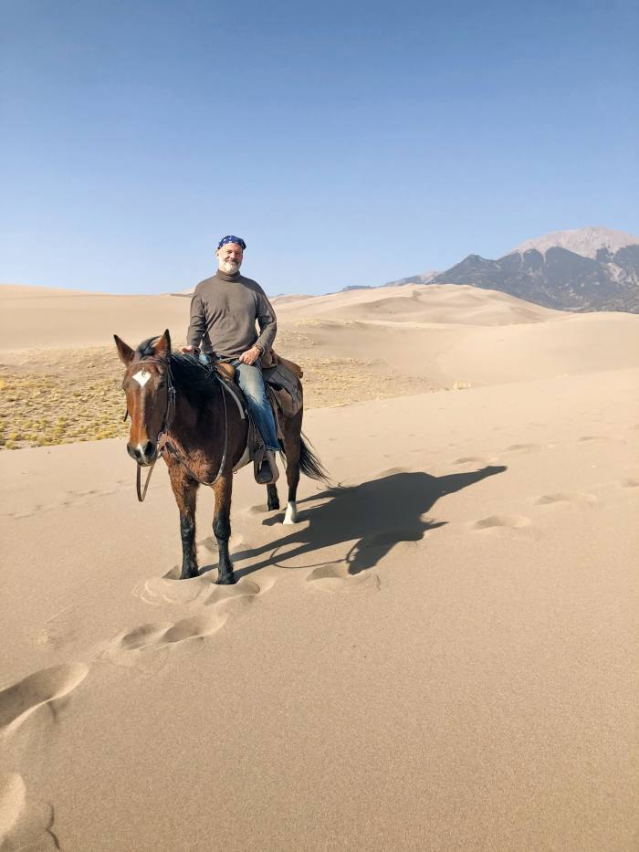 The author in theGreat Sand Dunes National Park