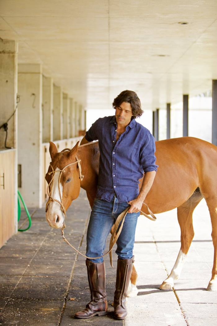 Polo player Nacho Figueras with his horse Famosa