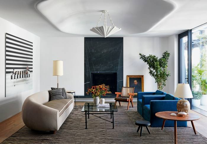 Stephen Antonson x The Invisible Collection James pendant lamp, POA; interior design by Neal Beckstedt Studio