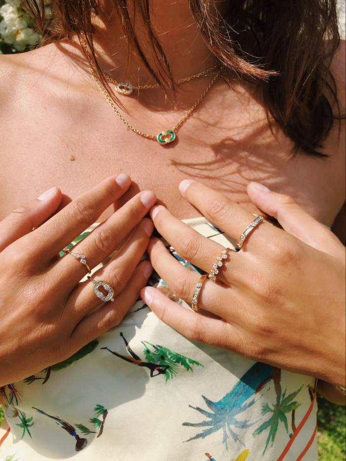 Viltier rings and neckaces from the Magnetic, Rayon and Clique collections