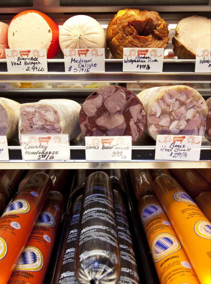 Forty varieties of sausage at Gene's