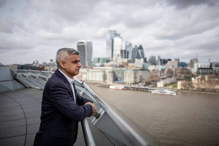 Sadiq Khan, Mayor of London, at City Hall, London in March