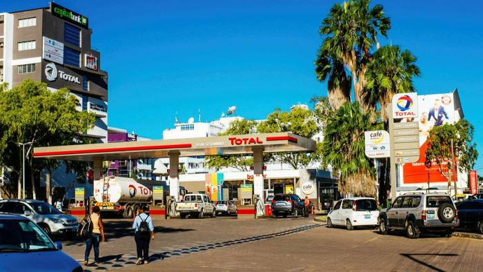 A Total petrol station in Maputo, Mozambique