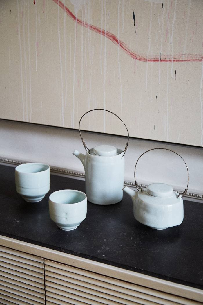 The best gift she has received recently: an Edmund de Waal teaset from her husband