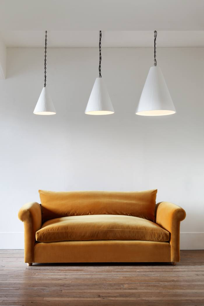 Rose Uniacke Cone hanging lights, from£1,440