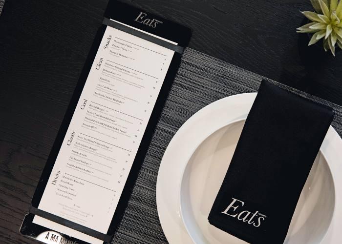 The in-store restaurant menu