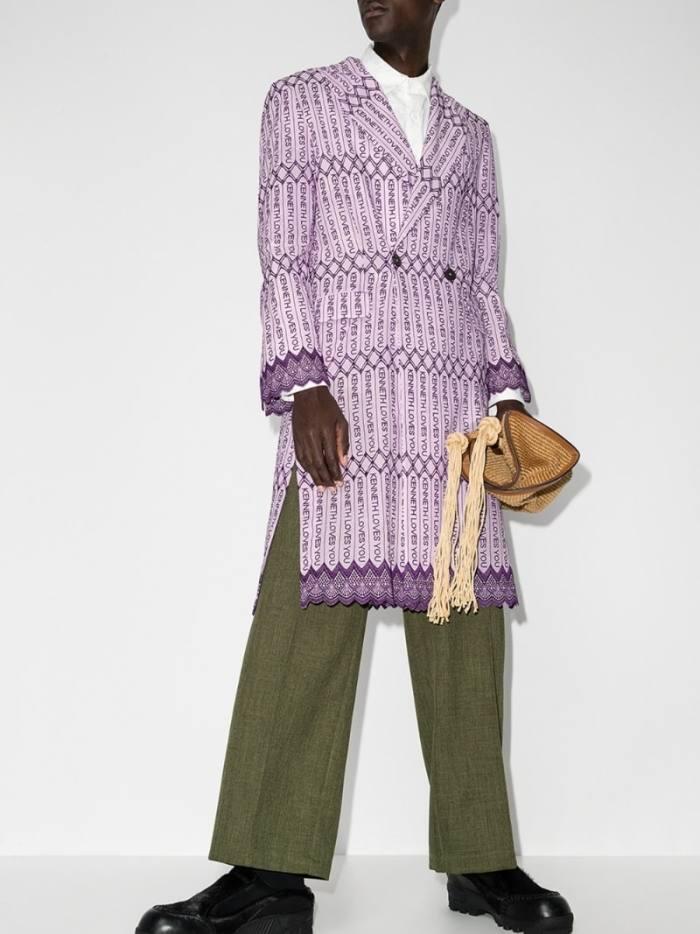 Kenneth Ize Chinua Slogan coat, £1,070, brownsfashion.com