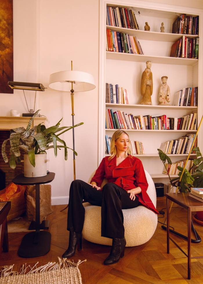 Monique Foy of Cosmic Dealer photographed at home in Paris