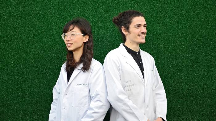 Post Carbon Lab founders Dian-Jen Lin and Hannes Hulstaert