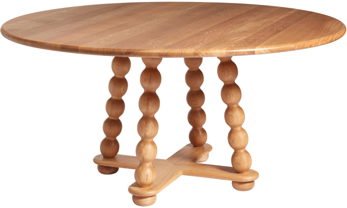 Bobbin dining table by Alfred Newall, £8,920, from thenewcraftsmen.com