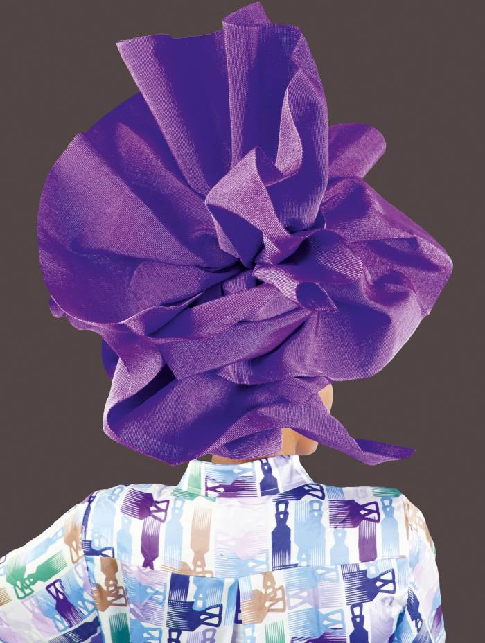 Violet Gele by Medina Dugger, £150; all proceeds to The Fund for Global Human Rights