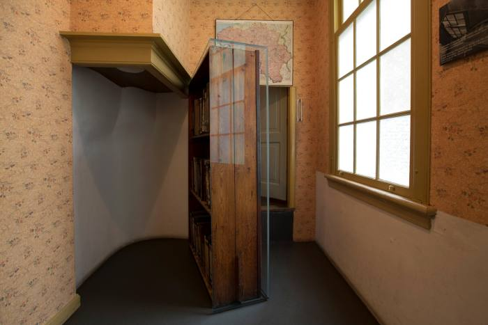 A concealed door in the Anne Frank Museum