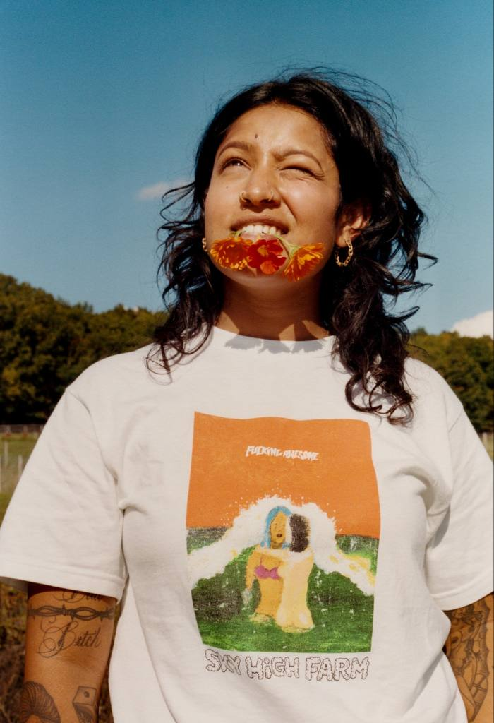 T-shirt, part of the collaboration between Sky High Farm and Dover Street Market to fight food insecurity