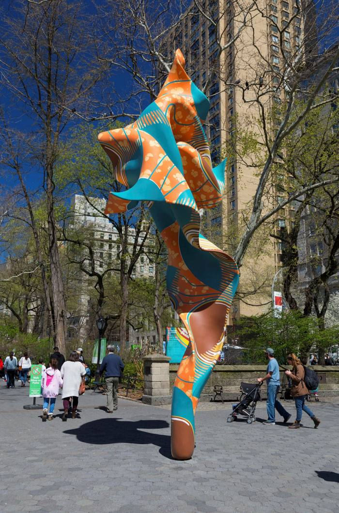 Yinka Shonibare's Wind Sculptures he installed in Central Park