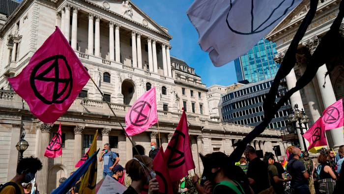 Activists from the Extinction Rebellion group