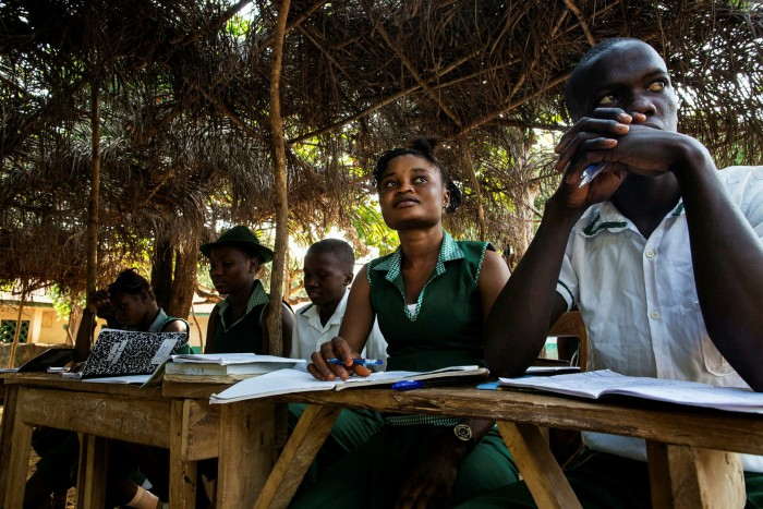 Students at Kubra Agricultural Secondary School in Rokupr Town, Kambia district, Sierra Leone