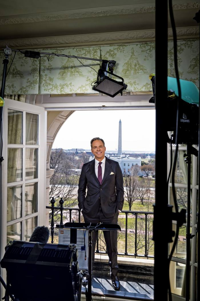 Jake Tapper in the live studio at The Hay-Adams Hotel, Washington DC