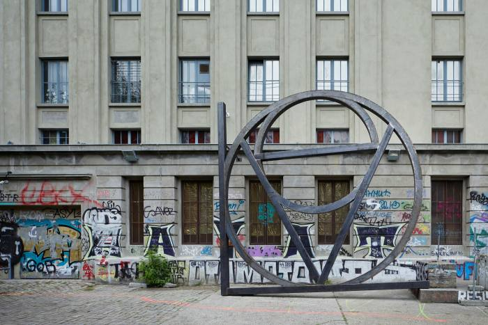 'Love' (2020) by Dirk Bell stands in front of the Berghain club in Berlin, now host to Studio Berlin