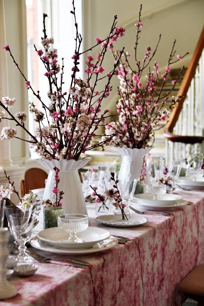 Summerill & Bishop linen Blossom tablecloth, £295