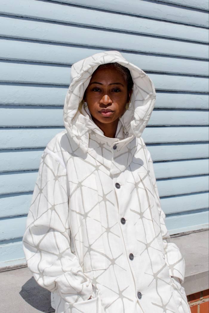 Charlene Prempeh in her Olubiyi Thomas jacket