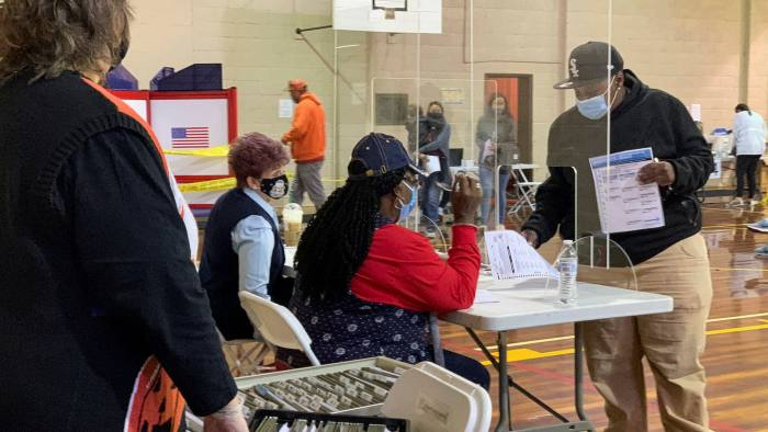 Voting in North Carolina in this year's presidential election