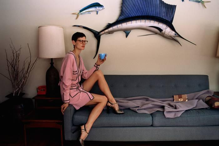 Saskia de Brauw in the '70s-inspired fashion shoot