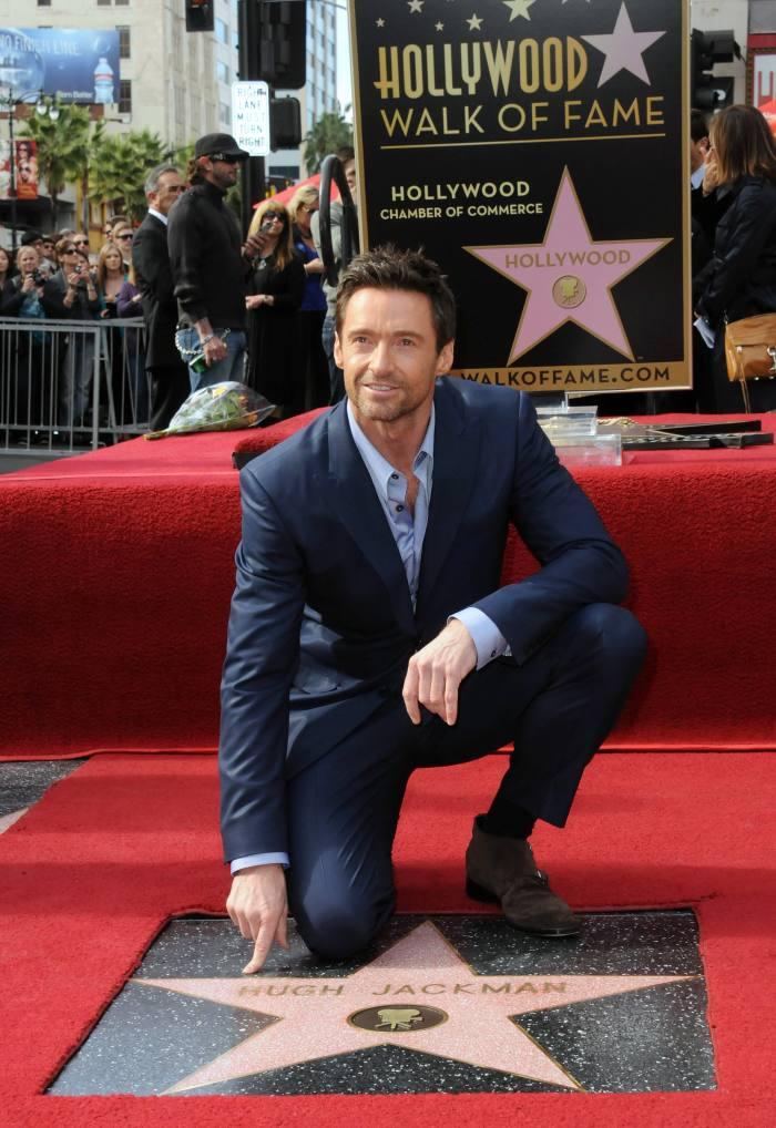 Jackman being honoured on the Hollywood Walk of Fame in 2012