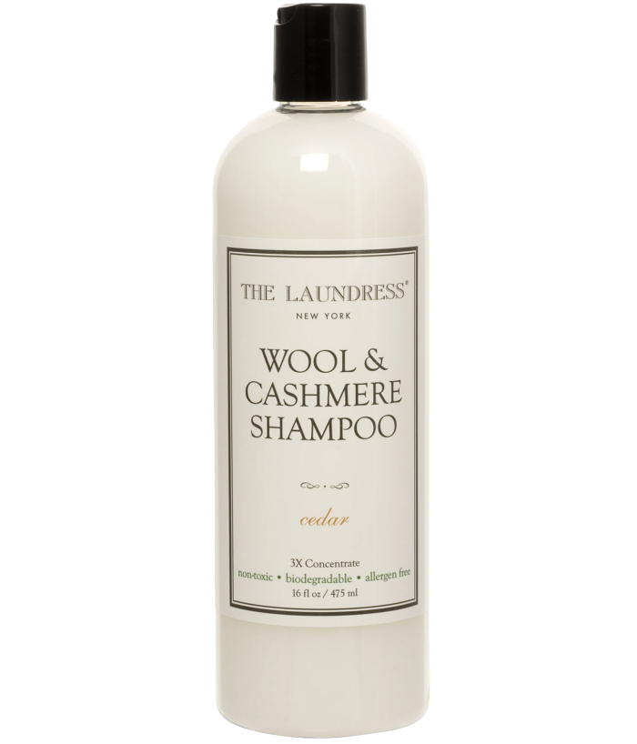 The Laundress Wool and Cashmere shampoo, £14.50, selfridges.com