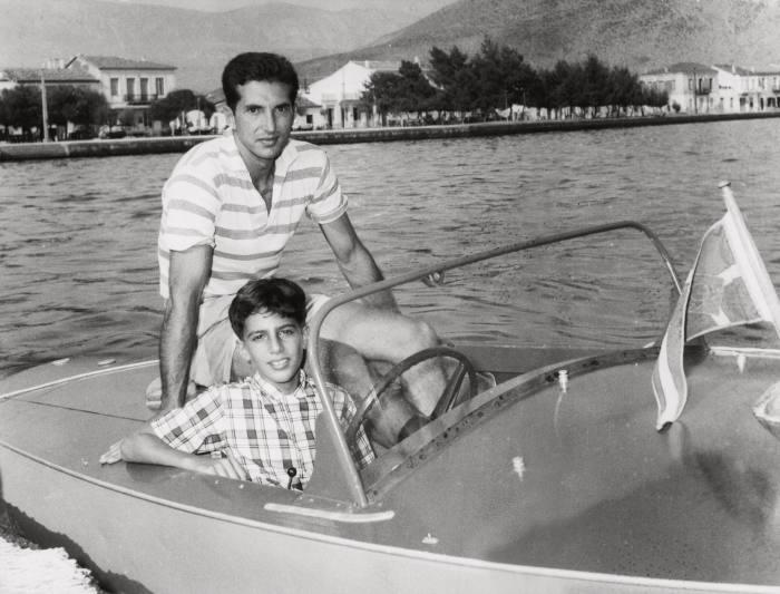 Alexander Onassis as a boy in an Albatross, 1956