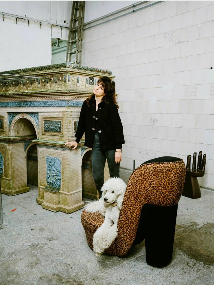 Artist Raphaela Vogel, whose sculpture and video installation fills the Halle's lower level