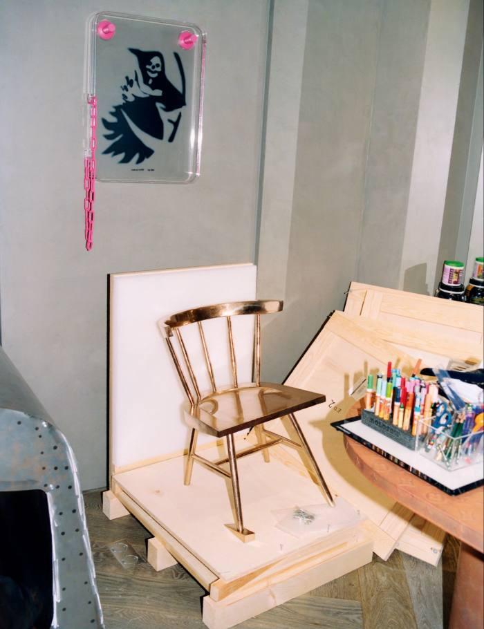 The Alaska chair in Abloh's Paris studio