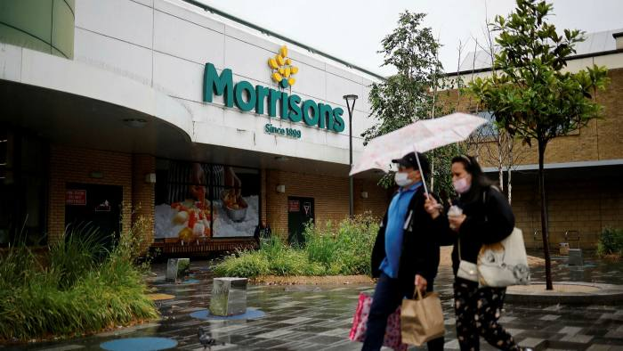 The reduced appetite for UK funds among savers comes as private equity groups swooped on UK-listed companies, including Morrisons (pictured), in the first six months of 2021