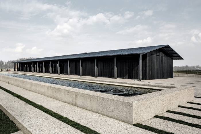 Vincent Van Duysen's wooden TR Residence – comprising a house, barn and stables in Knokke, Belgium – won the ARC15 Architecture Award