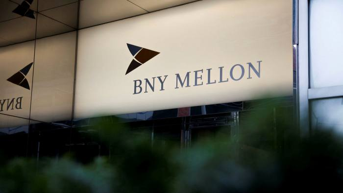 Signage is displayed at the Bank Of New York Mellon Corp. building in New York