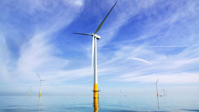 Gusty: projects such as the Kentish flats offshore wind farm form part of the UK's plan to supply clean energy to every home